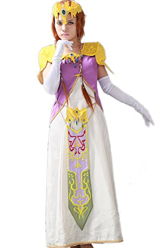 Princess Costumes For Adults Zelda (Halloween Women's Princess Cosplay Costume Outfits Suit Classical)