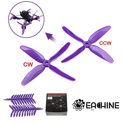 Eachine Wizard X220 Propellers 10CW & 10 CCW of Kingkong 5040 3-Blade Propellers Purple - 10 Pairs (5 sets of wizard x220 Propellers)