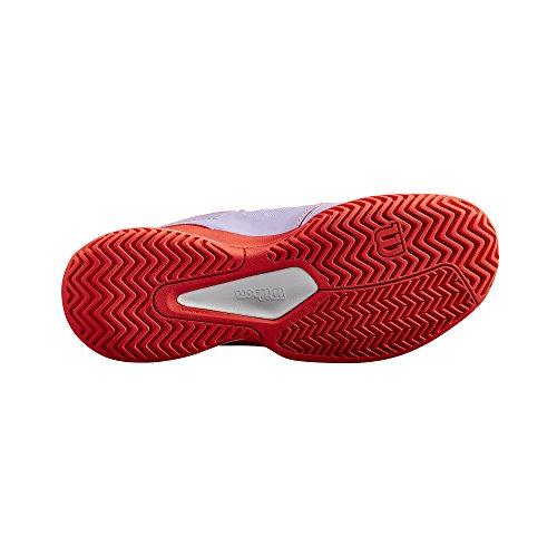 Tout Fiery Wilson Pastel Lilac de Type Tout de Niveau Rush Femme W de Chaussures pour Convient Tissu COMP Joueurs Coral Violet aux Tennis Corail White Terrain Synthétique 8S8rw0Bq