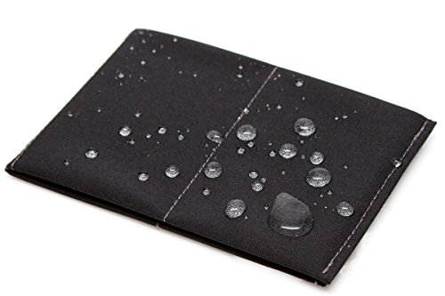 - SlimFold Minimalist Wallet - Thin, Durable, and Waterproof Guaranteed - Made in USA - Original Size Black with Gray Stitching