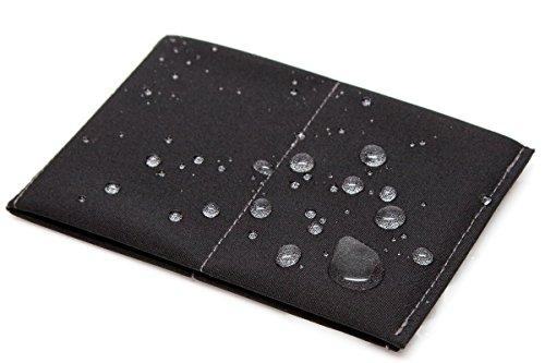 SlimFold Original Soft Shell Wallet Black with Gray Stitching