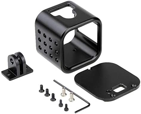 Black YANTAIANJANE Camera Accessories Housing Shell CNC Aluminum Alloy Protective Cage with Insurance Back Cover for GoPro HERO5 Session //HERO4 Session//Hero Session Color : Black