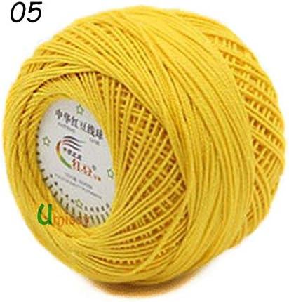 CUSHY 10 ovillos de Hilo de algodón 3# para Ganchillo BabyWork con ...