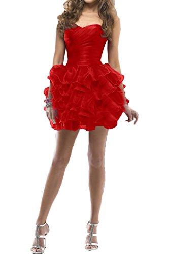 Missdressy - Robe - Plissée - Femme -  rouge - 50