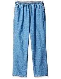 Chic Classic Collection Womens Petite-Plus-Size Petite Plus Denim Pull on Pant