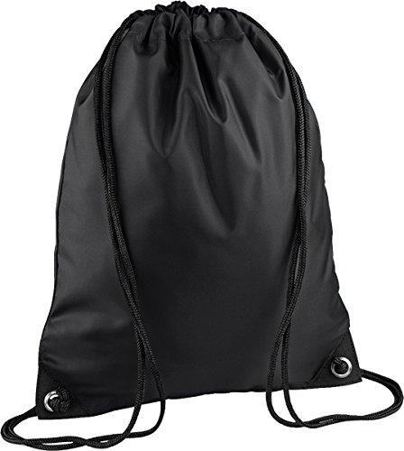 BagBase Premium Gymnastikbeutel, Mehrzweck-Tasche mit Kordelzug wasserabweisend, aqua Kit Sack Blau - Marineblau