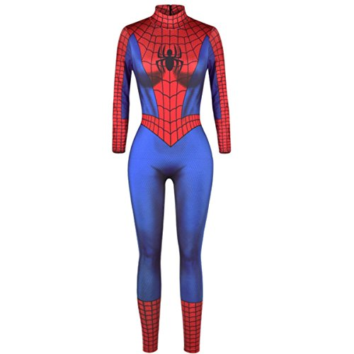 Spiderman Homecoming Costume, Spiderman Costume Men's Universe One Piece Spiderman Homecoming Costume Jumpsuit -