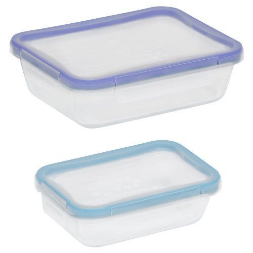 Snapware  4-Piece Total Solution Rectangle Food Storage Set, Glass -