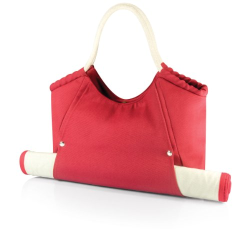 ONIVA - a Picnic Time Brand Cabo Beach Tote with Mat, Red