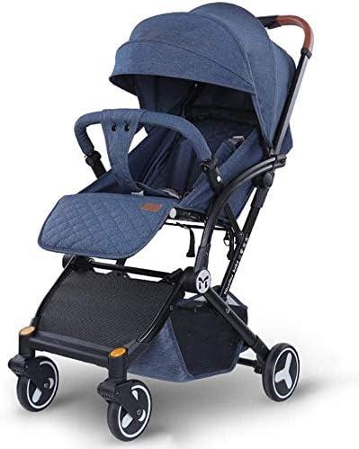 Opinión sobre OESFL Cochecito Cochecito for niños, ligero silla de paseo, Viajes plegable carro con el asiento y de descanso de correas, conveniente for los bebés recién nacidos (Color : Navy Blue)