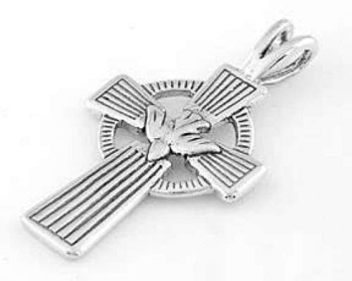 Charm - Sterling Silver - Jewelry - Pendant - Cross with Dove