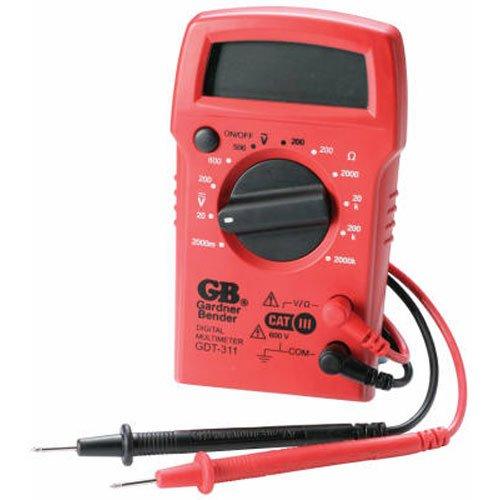 032076068363 - Gardner Bender GDT-311 Digital Multimeter, 3 Function, 11 Range, Tests AC/DC Voltage and Resistance, Manual Ranging, 3.5 inch Display, 1/Each carousel main 0