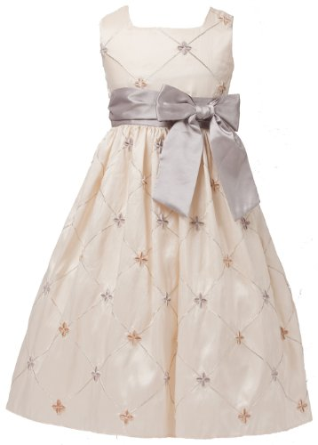 Ivory Embroidered Taffeta Dress - 2