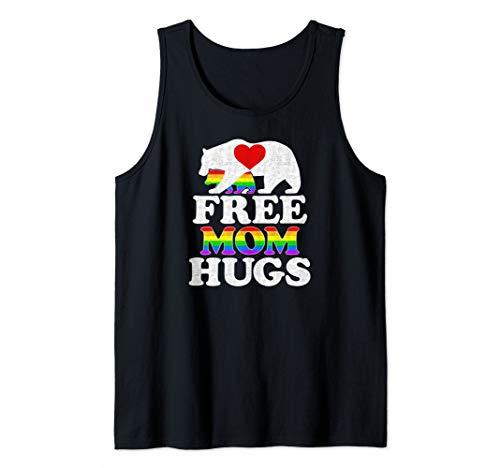 - Gay LGBT Pride Mama Bear For Women Free Mom Hugs Tank Top