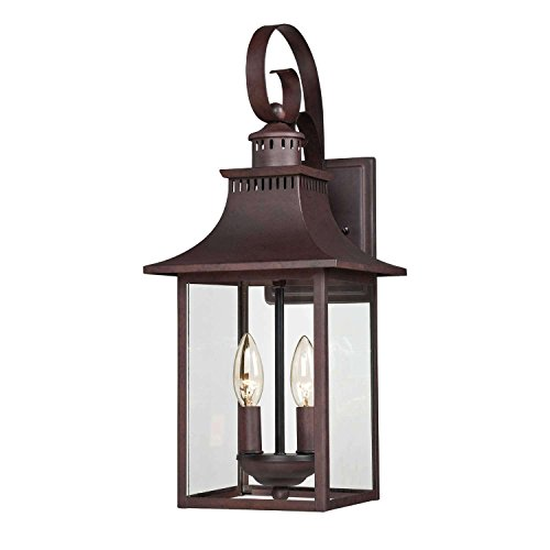 Bidwell Lighting Mason 19″ Tall Outdoor Wall Lantern – Copper Bronze For Sale