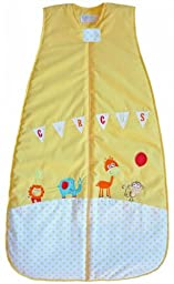 LIMITED TIME OFFER! The Dream Bag Baby Sleeping Bag Circus 100% cotton 18-36 Months 3.5 TOG - Yellow