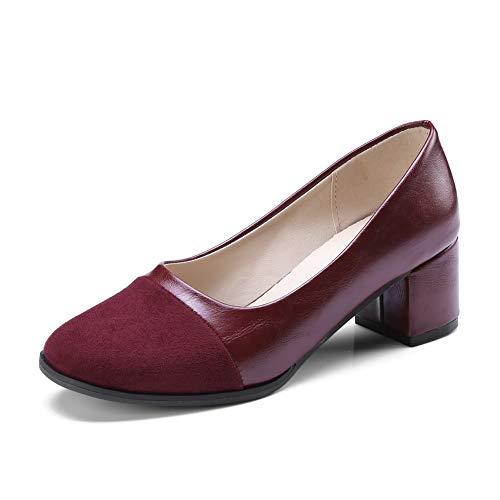 Sandales Compensées Rouge 36 Femme 5 SDC05706 Bordeaux AdeeSu pHqA5