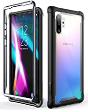 i-Blason Ares Clear Case for Galaxy Note 10 Plus/Note 10 Plus 5G 2019 Release, Dual Layer Rugged Clear Bumper Case Without Built-in Screen Protector (Black)