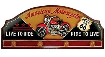 Perchero de madera de bicicleta o Moto Harley: Amazon.es ...