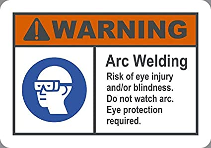 Amazon com: BuildASign Warning: Arc Welding, Risk of Eye