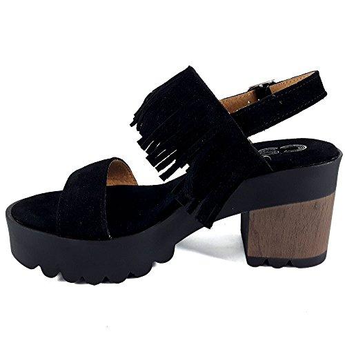 CSY, Infradito donna nero nero 39