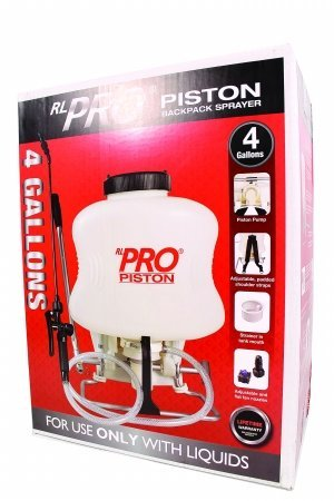 RL FLOMASTER 050060 R L Pro Piston Backpack Sprayer, 4 Gallon