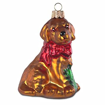Amazon De Sikora Bs182 Christbaumschmuck Glas Ornament Hund Mit