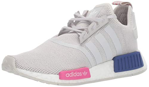 adidas Originals Unisex-Kid's NMD_R1 Running Shoe, Grey/Grey/Shock Pink, 3.5 M US Big Kid