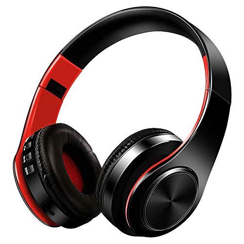 Bluetooth Headphones Over Ear, Candywe Hi-Fi Stereo Wireless Headphone, Deep Bass 4.1 Wireless Headset with Microphone for Airplane/Travel, Fit for PC/Cell Phones (Best Headphones For Airplane Travel)