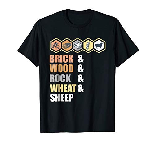 Brick Wood Rock Wheat Sheep - Board Game Geek T-Shirt