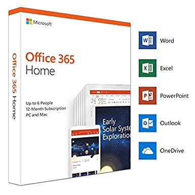 Microsoft Office 365 Home | up to 6 users | 1 year | PC/Mac | box