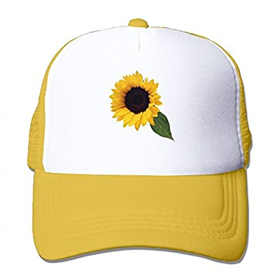Sun Flower with Leaf Men's Women's Adjustable Snapback Hats Hip Hop Caps | Baseball Caps Mesh Back