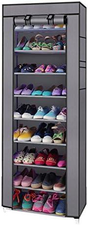 10 Tiers 9 Lattices Shoe Rack Shelf Storage Closet Organizer Cabinet Cover HOME!