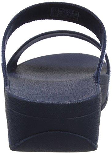FitFlop Incastone Slide, Sandales Bout Ouvert Femme Bleu (Midnight Navy 399)