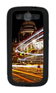 Christmas Lights in London Custom Design Samsung Galaxy S3 Case Cover - TPU - Black