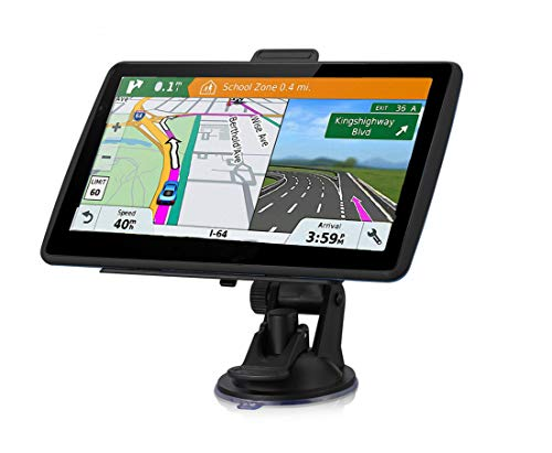 Sat Nav,7 Inch GPS for Car Truck with Latest UK&EU Maps Lifetime Free Update,Includes Post Code POI Search Speed Camera…
