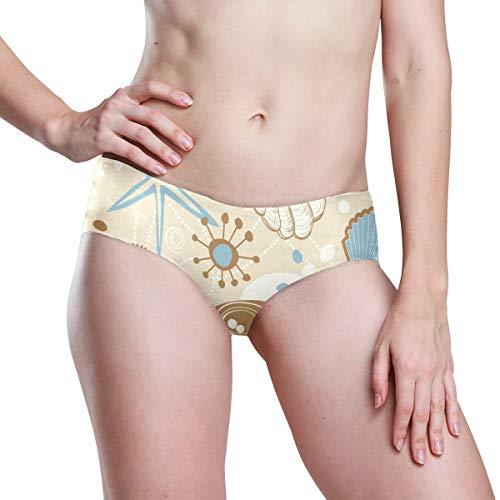 Starfish On Seashore Womens Seamless Underwear Invisible Bikini No Show Thong Panties