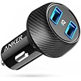 Anker Ultra-Compact 24W 2-Port Car Charger PowerDrive 2 Elite with PowerIQ Technology for iPhone X / 8 / 7 / 6s / Plus, iPad Air 2 / mini 3, Galaxy S Series, Note Series, LG, Nexus, HTC and More