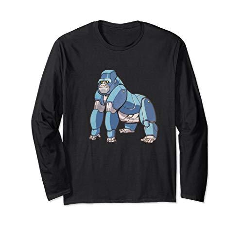 Robot Silverback Gorilla Long T-Shirt - Alpha Cyborg ()