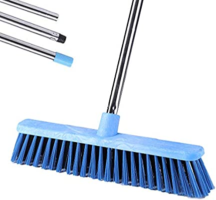 Long Handled Grout Scrubbing Brushes for Cleaning Tile Bathtub and Patio Floor Scrub Brush with Long Handle Tub 48 Stiff Bristle Shower Deck Brush Bathroom