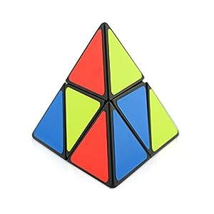 HJXD global Set of 4 pack magic cube include 2x2x2 Pyraminx+Mastermorphix+1x3x3 magic cube+Rainbow ball cube