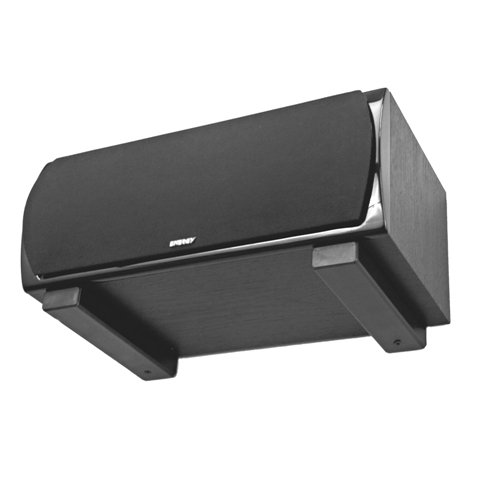 Center Channel Shelf - Pinpoint Mounts AM15-Black Universal Center Channel Speaker Wall Mount