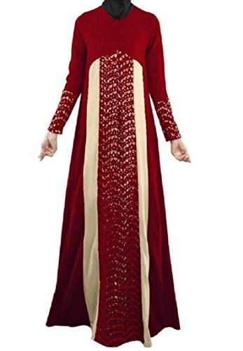 Abito Integrale Arabica Vestaglia Donna Con Chyedas Musulmana Rosso Da rBoWEedQCx