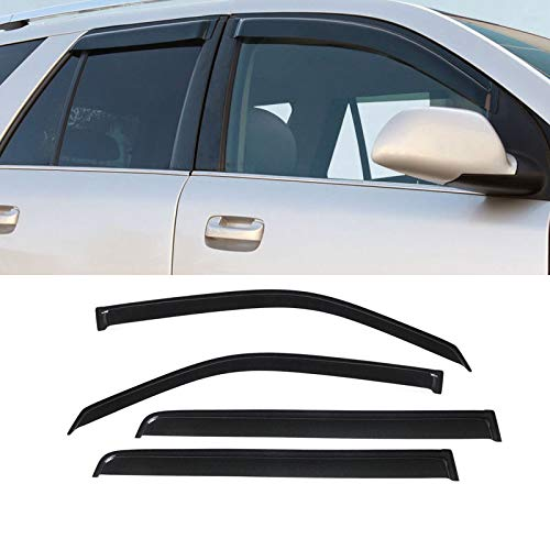 Laprive Auto 4pcs for 2010-2019 Toyota 4Runner Sun Rain Guard Vent Shade Window Visor