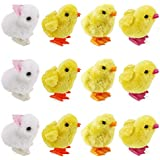 1 Dozen Wind-Up Jumping Chicken and Bunnies Party Favors (Pack of 12)