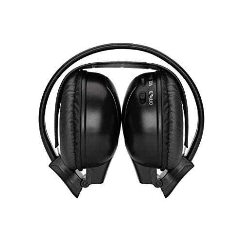 XTRONS Wireless Ir Dual Channel Stereo Headphones Infrared Headsets Cordless 2 Channels ()