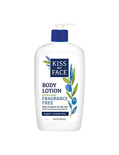 Free Vitamins Fragrance Kiss (Kiss My Face Sensitive Skin Body Lotion Olive and Aloe, Fragrance Free, 16 Fluid Ounce (Pack of 3))