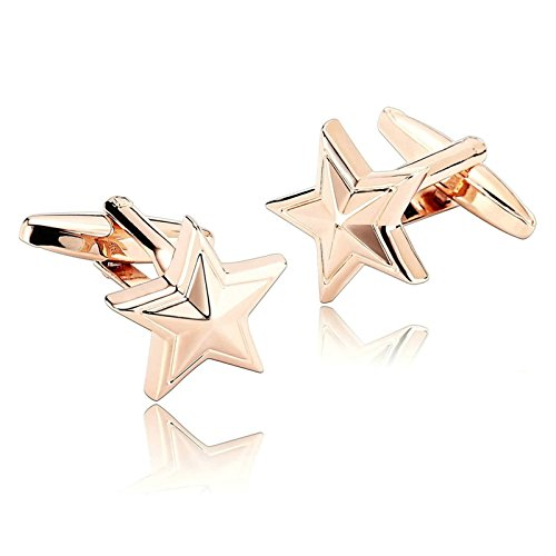 Fish Cuff Watch (Aooaz Men Cufflinks Stainless Steel Starfish Star Fish Seas Beach Rose Gold Mens Dad Unique Jewelry Box Fancy Elegant)