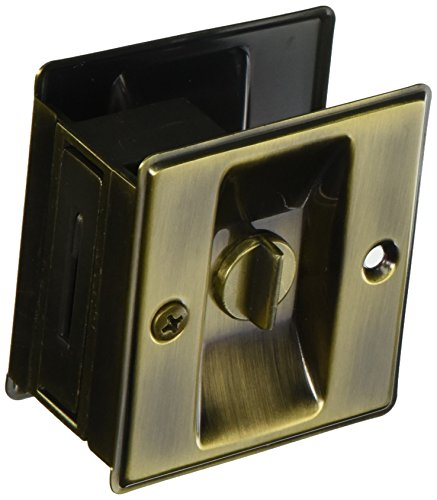 Cal Royal SDL165 Privacy Sliding Door Lock, Antique (Cal Royal Antique Brass)