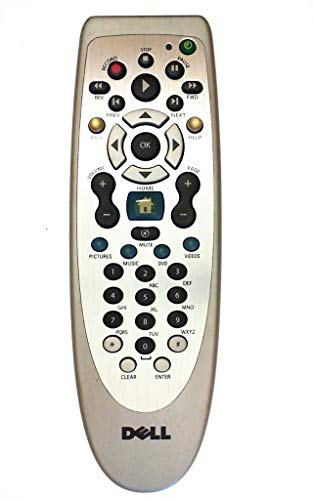 Genuine Dell J4462 RC1154006/00S RC6 IR (Infrared) Silver Front Remote Control, Compatible Dell Part Number: X5429 (BATTERIES NOT INCLUDED)